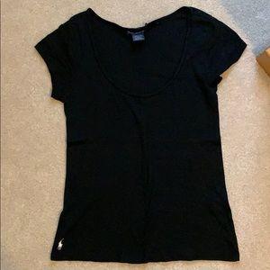RL Polo black scoop neck tshirt